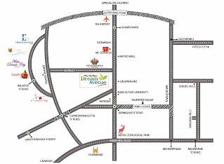 Dream Avenue Location Map
