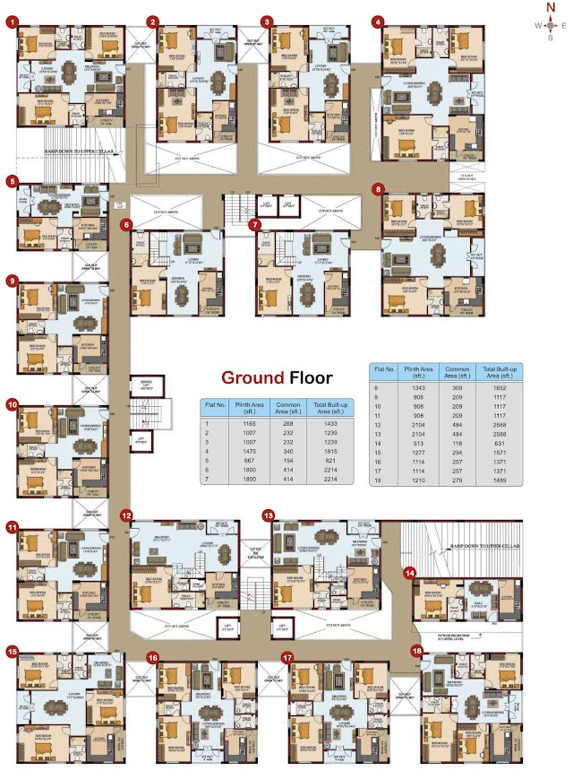 Silpa Hilltop Floor Plan - Ground Floor