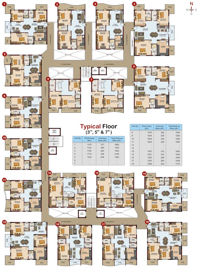 Silpa Hilltop Floor Plan - Typical Floor 2